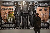 Ausstellung Luther und die Avantgarde mit grossformatigen Bildern der britischen Kuenstler Gilbert & George in der St. Matthaeuskirche in Berlin.<br /> 19.5.2017, Berlin<br /> Copyright: Christian-Ditsch.de<br /> [Inhaltsveraendernde Manipulation des Fotos nur nach ausdruecklicher Genehmigung des Fotografen. Vereinbarungen ueber Abtretung von Persoenlichkeitsrechten/Model Release der abgebildeten Person/Personen liegen nicht vor. NO MODEL RELEASE! Nur fuer Redaktionelle Zwecke. Don't publish without copyright Christian-Ditsch.de, Veroeffentlichung nur mit Fotografennennung, sowie gegen Honorar, MwSt. und Beleg. Konto: I N G - D i B a, IBAN DE58500105175400192269, BIC INGDDEFFXXX, Kontakt: post@christian-ditsch.de<br /> Bei der Bearbeitung der Dateiinformationen darf die Urheberkennzeichnung in den EXIF- und  IPTC-Daten nicht entfernt werden, diese sind in digitalen Medien nach §95c UrhG rechtlich geschuetzt. Der Urhebervermerk wird gemaess §13 UrhG verlangt.]