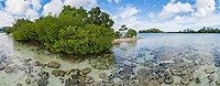 Luftaufnahme von Ghavutu Island mit Mangroven, Florida Islands, Salomonen, Sued Pazifik, Salomonen See / Aerial View from Ghavutu Island with mangroves, Florida Islands, Solomons, South Pacific Ocean, Soomon Sea