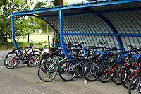 Cycle shed at State Junior School..