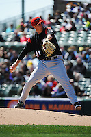 Richmond Flying Squirrels pitcher Craig Westcott (41) during game against the Trenton Thunder at ARM & HAMMER Park on April 14 2013 in Trenton, NJ.  Trenton defeated Richmond 15-1.  (Tomasso DeRosa/Four Seam Images)