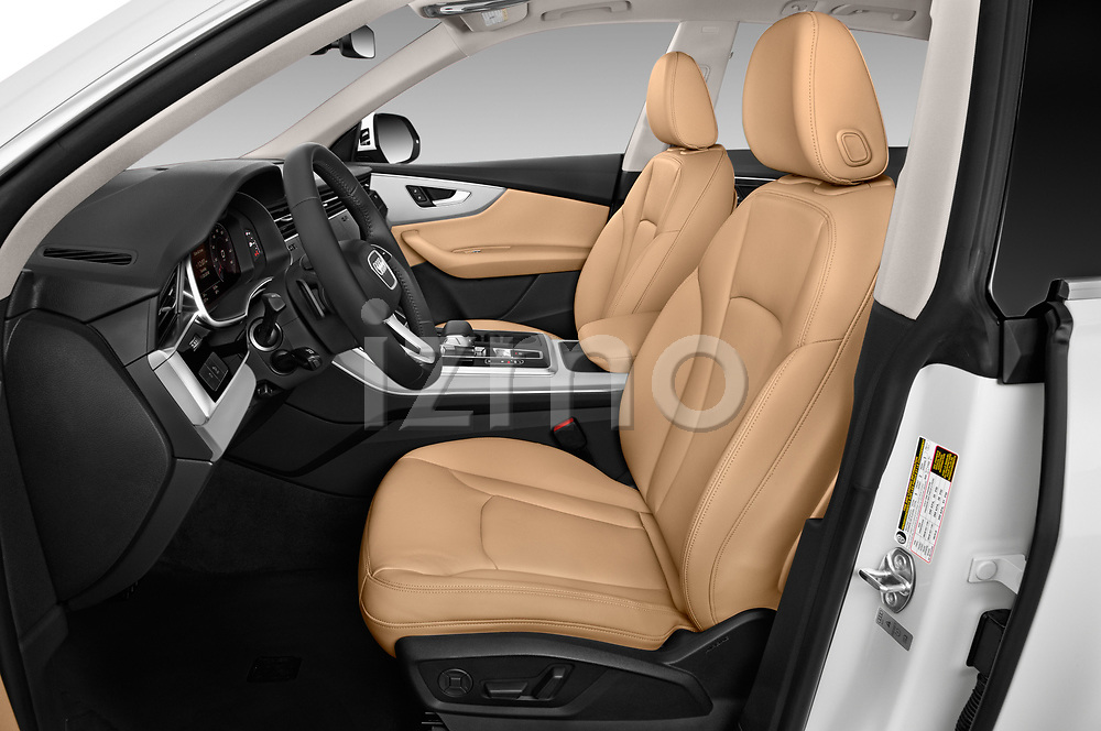 Front seat view of 2019 Audi Q8 - 5 Door SUV Front Seat  car photos