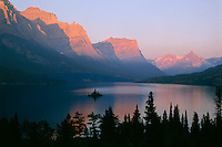 Wild Goose Island<br /> Saint Mary Lake<br /> Glacier National Park<br /> Rocky Mountians, Montana