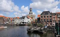 Nederland Leiden 2021.  Centrum van Leiden. De Rijn. De Hartebrugkerk.  Foto ANP / Berlinda van Dam