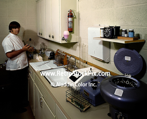 Medical technician working in a nursing home