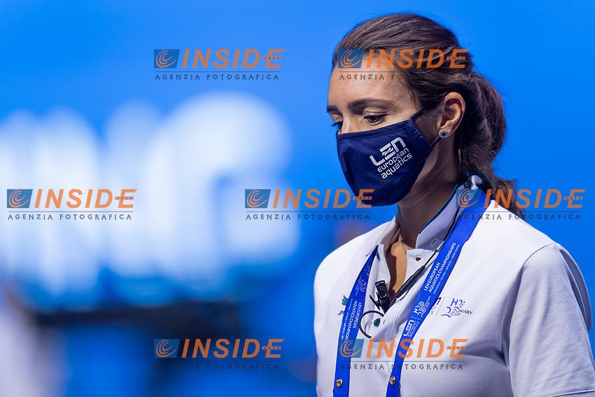 Referee<br /> Swimming<br /> Budapest  - Hungary  20/5/2021<br /> Duna Arena<br /> XXXV LEN European Aquatic Championships<br /> Photo Giorgio Scala / Deepbluemedia / Insidefoto