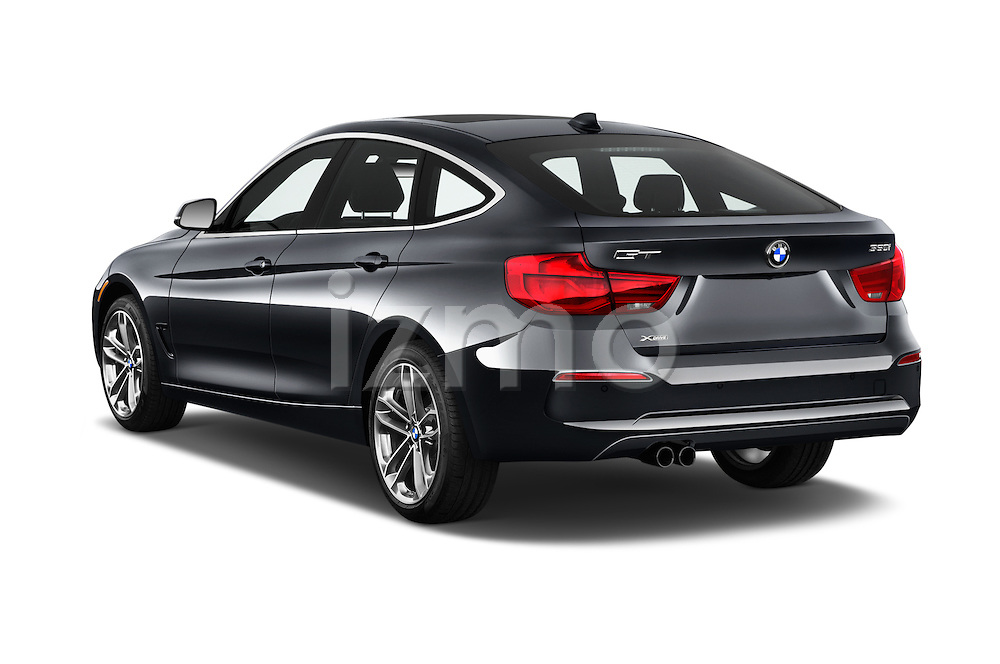 Car pictures of rear three quarter view of 2017 BMW 3-Series-GT Sport 5 Door Hatchback Angular Rear
