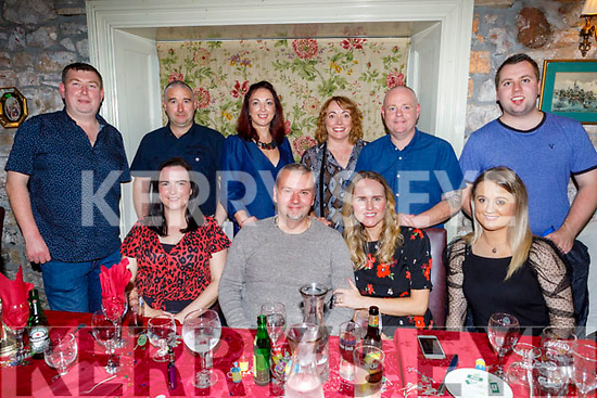 Sean O'Sullivan from Castleisland celebrating his 40th birthday on Saturday in Cassidys.<br /> Seated l to r: Elaine Fitzgerald, Sean and Marion O'Sullivan and Cora Crosnan.<br /> Standing l to r: Connie O'Rourke, Danny and Liz Healy, Katie and Tom O'Sullivan and Andrew Foran.