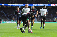 Semesa Rokoduguni of England touches down for his second try of the afternoon during the Old Mutual Wealth Series match between England and Fiji at Twickenham Stadium on Saturday 19th November 2016 (Photo by Rob Munro)