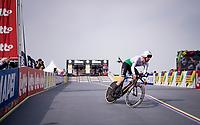Lotfi Tchambaz of Algeria rocking a former Team Wiggins Pinarello TT bike at the Men Elite Individual Time Trial <br /> <br /> from Knokke-Heist to Bruges (43.3 km)<br /> <br /> UCI Road World Championships - Flanders Belgium 2021<br /> <br /> ©kramon