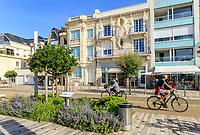 France, Vendee, Les Sables d'Olonne, seafront buildings on the Remblai // France, Vendée (85), Les Sables-d'Olonne, immeubles du front de mer sur le Remblai