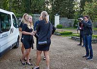 Arena Loire,  Trélazé,  France, 14 April, 2016, Semifinal FedCup, France-Netherlands, Official Diner,  Dutch team arrives<br /> Photo: Henk Koster/Tennisimages