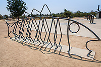 A bike rack at Big Break Regional Shoreline is art and function.
