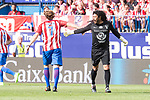 Atletico de Madrid Legends's Diego Forlan and World Legend's Rene Higuita during friendly match to farewell  to Vicente Calderon Stadium in Madrid, May 28, 2017. Spain.<br /> (ALTERPHOTOS/BorjaB.Hojas)
