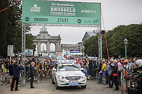 neutralised start<br /> <br /> Brussels Cycling Classic 2016