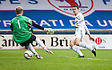 Raith Rovers' Grant Anderson scores their second goal.