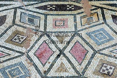 CYPRUS, near Limassol (Lemesos), Kourion: archaelogical excavation - mosaic<br />