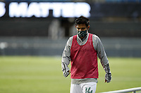 SAN JOSE, CA - SEPTEMBER 19: Andres Flores #14 of the Portland Timbers during a game between Portland Timbers and San Jose Earthquakes at Earthquakes Stadium on September 19, 2020 in San Jose, California.