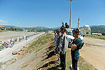 Locals watch as the peloton passes by during Stage 5 of the 2015 Presidential Tour of Turkey running 159.9km from Mugla to Pamukkale. 30th April 2015.<br /> Photo: Tour of Turkey/Mario Stiehl/www.newsfile.ie