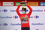 Race leader Primoz Poglic (SLO) Team Jumbo-Visma retains the Red Jersey at the end of Stage 14 of the Vuelta Espana 2020, running 204.7km from Lugo to Ourense, Spain. 4th November 2020. <br /> Picture: Luis Angel Gomez/PhotoSportGomez | Cyclefile<br /> <br /> All photos usage must carry mandatory copyright credit (© Cyclefile | Luis Angel Gomez/PhotoSportGomez)