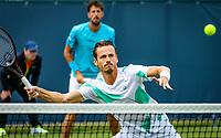Den Bosch, Netherlands, 12 June, 2018, Tennis, Libema Open, Men's doubles : Robin Haase (NED) and Wesley Koolhof (NED) (foreground)<br /> Photo: Henk Koster/tennisimages.com