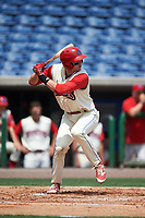 Clearwater Threshers designated hitter Zach Green (12) bats during a game against the Daytona Tortugas on April 20, 2016 at Bright House Field in Clearwater, Florida.  Clearwater defeated Daytona 4-2.  (Mike Janes/Four Seam Images)
