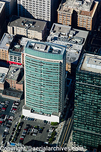 aerial photograph 101 Second Street skyscrapers San Francisco