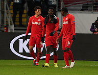 Frust bei RB Salzburg - 20.02.2020: Eintracht Frankfurt vs. RB Salzburg, UEFA Europa League, Hinspiel Round of 32, Commerzbank Arena DISCLAIMER: DFL regulations prohibit any use of photographs as image sequences and/or quasi-video.