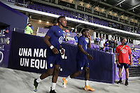 ORLANDO CITY, FL - JANUARY 31: USMNT before a game between Trinidad and Tobago and USMNT at Exploria stadium on January 31, 2021 in Orlando City, Florida.