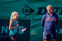 Hilversum, Netherlands, August 6, 2018, National Junior Championships, NJK, Opening  door Jinte de Boer<br /> Photo: Tennisimages/Henk Koster