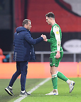 12th January 2021; Vitality Stadium, Bournemouth, Dorset, England; English Football League Championship Football, Bournemouth Athletic versus Millwall; Jake Cooper and Gary Rowett Manager of Millwall after the match