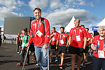 Glasgow 2014 Commonwealth Games<br /> Flag raising ceremony to welcomes Team Wales to the athletes village.<br /> Ryan Jones<br /> 21.07.14<br /> ©Steve Pope-SPORTINGWALES