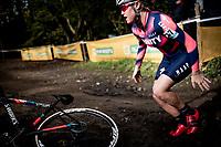 Abby Mae Parkinson (GBR/Trinity Racing) crash<br /> <br /> Womens Race<br /> 42nd Superprestige cyclocross Gavere 2019<br /> <br /> ©kramon