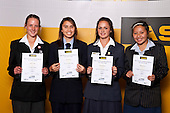 Girls Softball finalists Gillian Wills, Nita Hickey, Krysta Hoani & Alzeena Levi. ASB College Sport Auckland Secondary School Young Sports Person of the Year Awards held at Eden Park on Thursday 12th of September 2009.