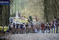 A decisive split is made up the 2nd ascent of the  Kemmelberg, as Peter Sagan (SVK/Tinkoff) pulls forward taking Fabian Cancellara (SUI/TREK-Segafredo) & Sep Vanmarcke (BEL/LottoNL-Jumbo) with him.<br /> <br /> 78th Gent - Wevelgem in Flanders Fields (1.UWT)