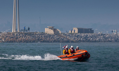 Dun Laoghaire Harbour RNLI inshore lifeboat