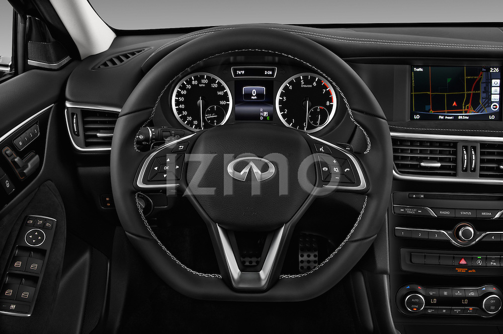 Car pictures of steering wheel view of a 2018 Infiniti QX30 Sport 5 Door SUV Steering Wheel