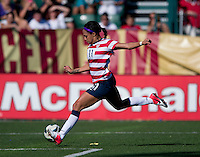 Sydney Leroux.  The USWNT defeated Costa Rica, 8-0, during a friendly match at Sahlen's Stadium in Rochester, NY.