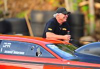 Jun. 18, 2011; Bristol, TN, USA: NHRA pro mod driver Dennis Radford during qualifying for the Thunder Valley Nationals at Bristol Dragway. Mandatory Credit: Mark J. Rebilas-
