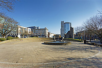 Pictured: The deserted Castle Square in the city centre of Swansea, Wales, UK. Wednesday 25 March 2020 <br /> Re: Covid-19 Coronavirus pandemic, UK.