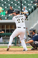 Matt Davidson (22) of the Charlotte Knights at bat against the Pawtucket Red Sox at BB&T Ballpark on August 8, 2014 in Charlotte, North Carolina.  The Red Sox defeated the Knights  11-8.  (Brian Westerholt/Four Seam Images)