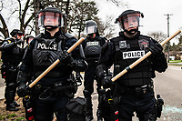 APR 11 Protestors Clash With Police After Death of Daunte Wright