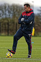 Tony Roberts, goalkeeping coach watches the trainingduring the Swansea City Training at The Fairwood Training Ground, Swansea, Wales, UK. Tuesday 05 December 2017