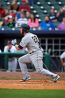 San Antonio Missions catcher Jason Hagerty (22) at bat during a game against the NW Arkansas Naturals on May 30, 2015 at Arvest Ballpark in Springdale, Arkansas.  San Antonio defeated NW Arkansas 5-1.  (Mike Janes/Four Seam Images)