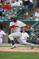 Pawtucket Red Sox outfielder Rusney Castillo (31) at bat during a game against the Rochester Red Wings on July 1, 2015 at Frontier Field in Rochester, New York.  Rochester defeated Pawtucket 8-4.  (Mike Janes/Four Seam Images)