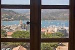 View from Genoese citadel, built 1440 of Saint Florent, Haute Corse, Corsica, France, Mediterranean Coast, Coastal towns in Corsica,
