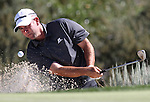 Josh Teater hits out of the sand on the 11th during the Reno-Tahoe Open at the Montreux Golf & Country Club in Reno, Nev., on Sunday, Aug. 7, 2011. Teater finished tied for tenth place. .Photo by Cathleen Allison