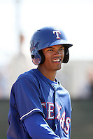 Luis Sardinas, Texas Rangers minor league spring training..Photo by:  Bill Mitchell/Four Seam Images.