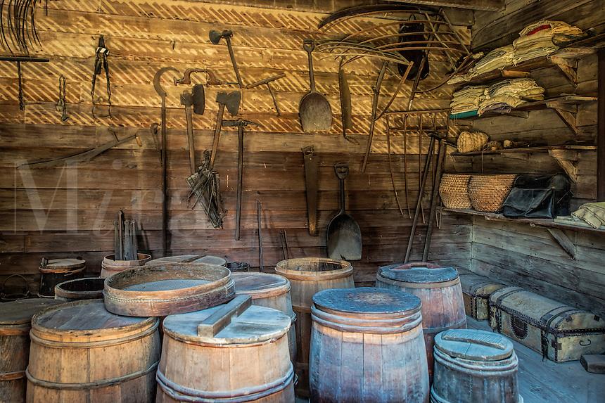 The supply storeroom at Mt Vernon, the estate of George Washington, Virginia, USA