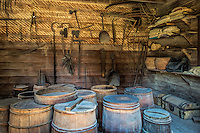 The supply storeroom at Mt Vernon, the estate of George Washington, Virginia, USA