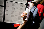 On April 29th, 2006 thousands of anti-war protesters rallied at Union Square in Manhattan and marched down Broadway to show their anger at the Bush administration for the continuing war in Iraq.. Poster showing names of the US soldiers killed in Iraq since January 2006.